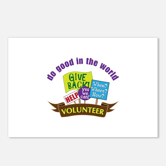 do good in the world Postcards (Package of 8)