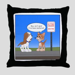 Littering Fine Throw Pillow