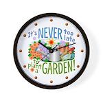 Plant a Garden Wall Clock