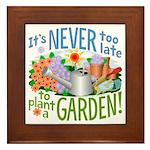 Plant a Garden Framed Tile