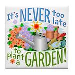 Plant a Garden Tile Coaster