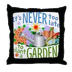 Plant a Garden Throw Pillow