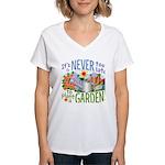 Plant a Garden Women's V-Neck Tee