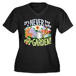 Plant a Garden Wmns Plus Sz V-Neck Dk Tee