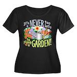 Plant a Garden Wmns Plus Sz Scoop Neck Dk Tee