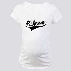 Kaboom, Retro, Maternity T-Shirt