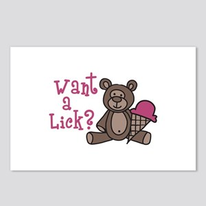 Want A Lick? Postcards (Package of 8)