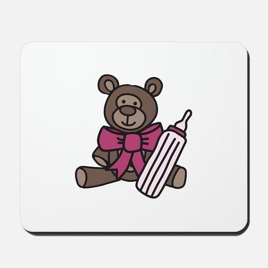 Baby Bottle Bear Mousepad