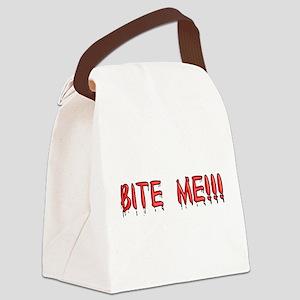 bite_me Canvas Lunch Bag