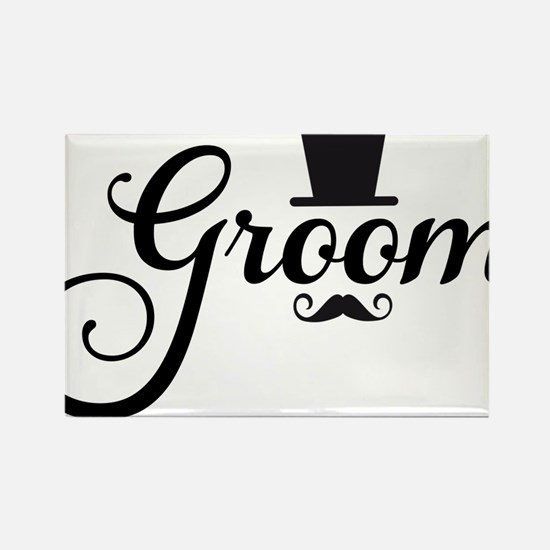 Groom with hat and mustache Magnets