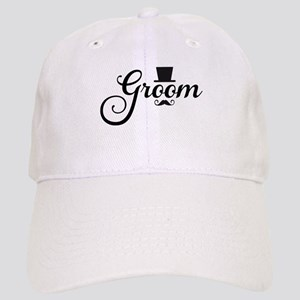 Groom with hat and mustache Baseball Cap