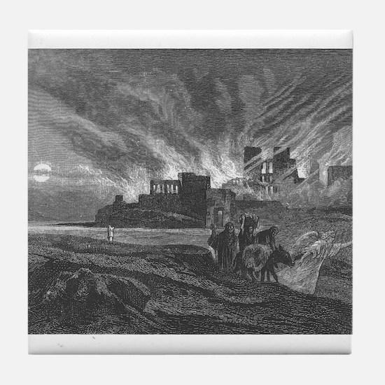 Alexander Bida - Burning Sodoma - 1874 - Woodcut T