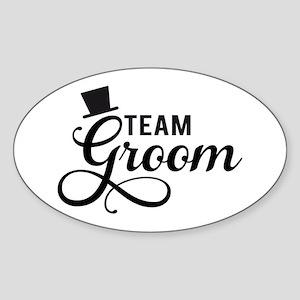 Team Groom with hat Sticker