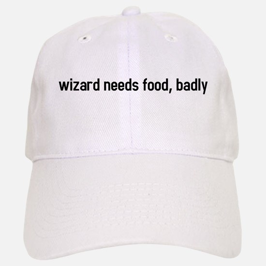 wizard needs food, badly Baseball Baseball Cap