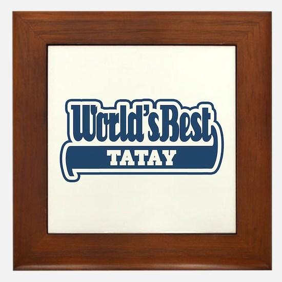 WB Dad [Tagalog] Framed Tile