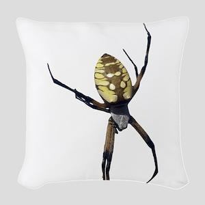 Yellow Banana Spider Woven Throw Pillow