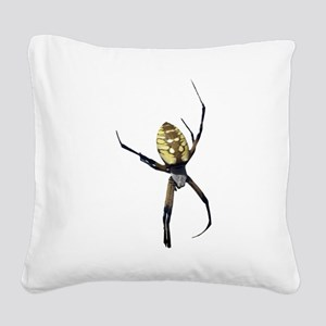 Yellow Banana Spider Square Canvas Pillow