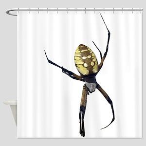 Yellow Banana Spider Shower Curtain