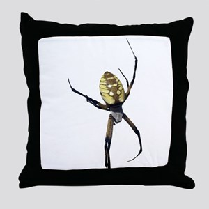 Yellow Banana Spider Throw Pillow