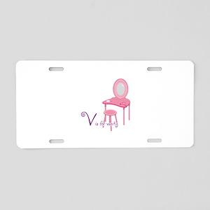V is for vanity Aluminum License Plate