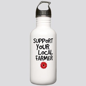 Support Local Farmer Stainless Water Bottle 1.0L