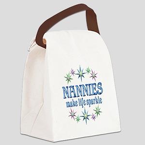 Nannies Sparkle Canvas Lunch Bag