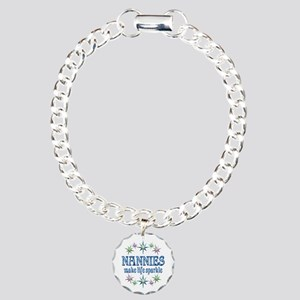 Nannies Sparkle Charm Bracelet, One Charm