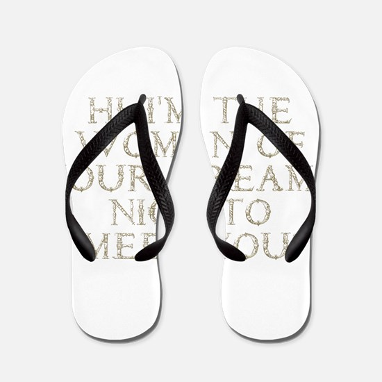 the_woman_gold.png Flip Flops