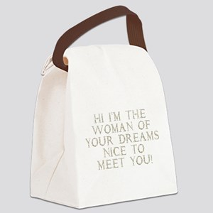 the_woman_gold Canvas Lunch Bag