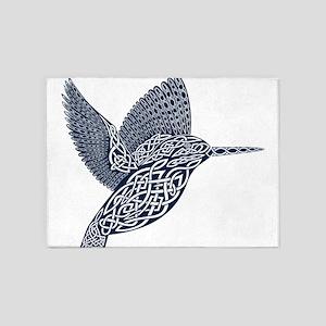 celtic knot king fisher dark blue 5'x7'Area Rug
