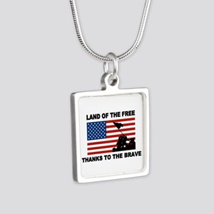 Land Of The Free Thanks To The Brave Necklaces