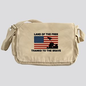 Land Of The Free Thanks To The Brave Messenger Bag