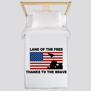 Land Of The Free Thanks To The Brave Twin Duvet