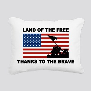 Land Of The Free Thanks To The Brave Rectangular C