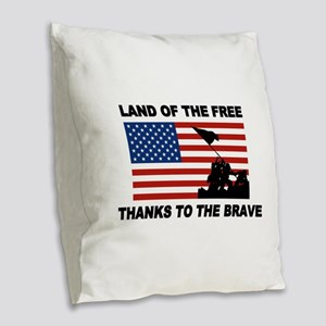 Land Of The Free Thanks To The Brave Burlap Throw