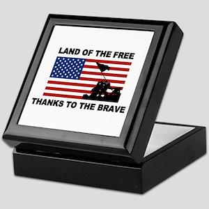 Land Of The Free Thanks To The Brave Keepsake Box