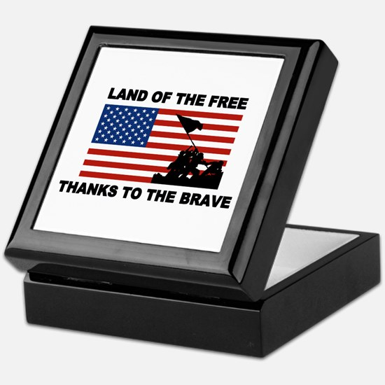 Land Of The Free Thanks To The Brave Keepsake Box