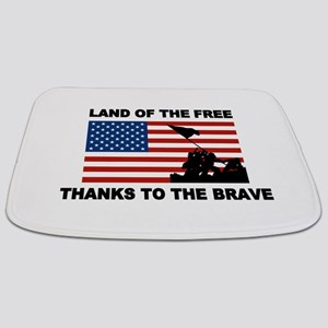 Land Of The Free Thanks To The Brave Bathmat