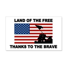 Land Of The Free Thanks To The Brave Wall Decal
