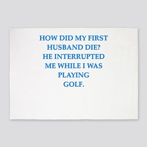 golfing 5'x7'Area Rug