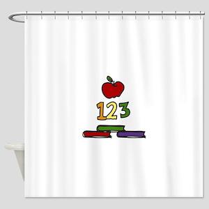 School Books Shower Curtain