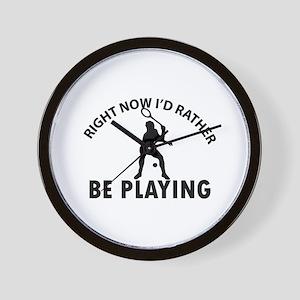Squash playing designs Wall Clock