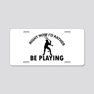 Squash playing designs Aluminum License Plate