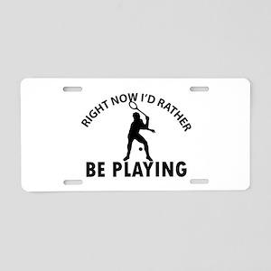 Squash playing designs Aluminum License Plate