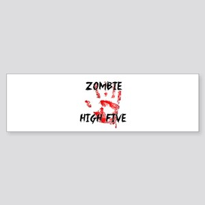 Zombie High Five Bumper Sticker