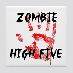 Zombie High Five Tile Coaster