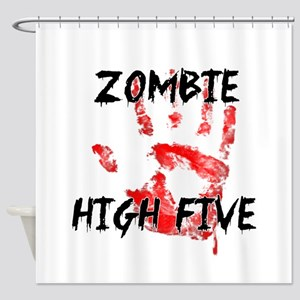 Zombie High Five Shower Curtain