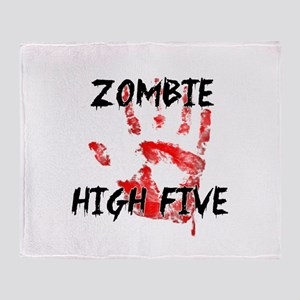 Zombie High Five Throw Blanket