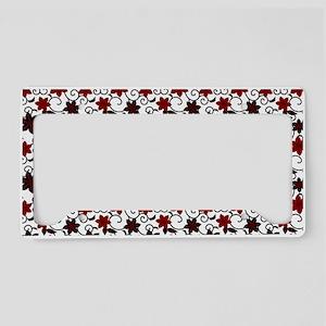 Oriental red black and white sakura pattern Licens