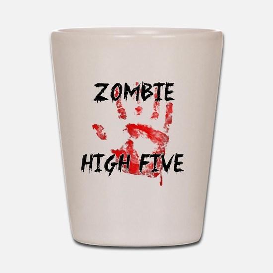 Zombie High Five Shot Glass
